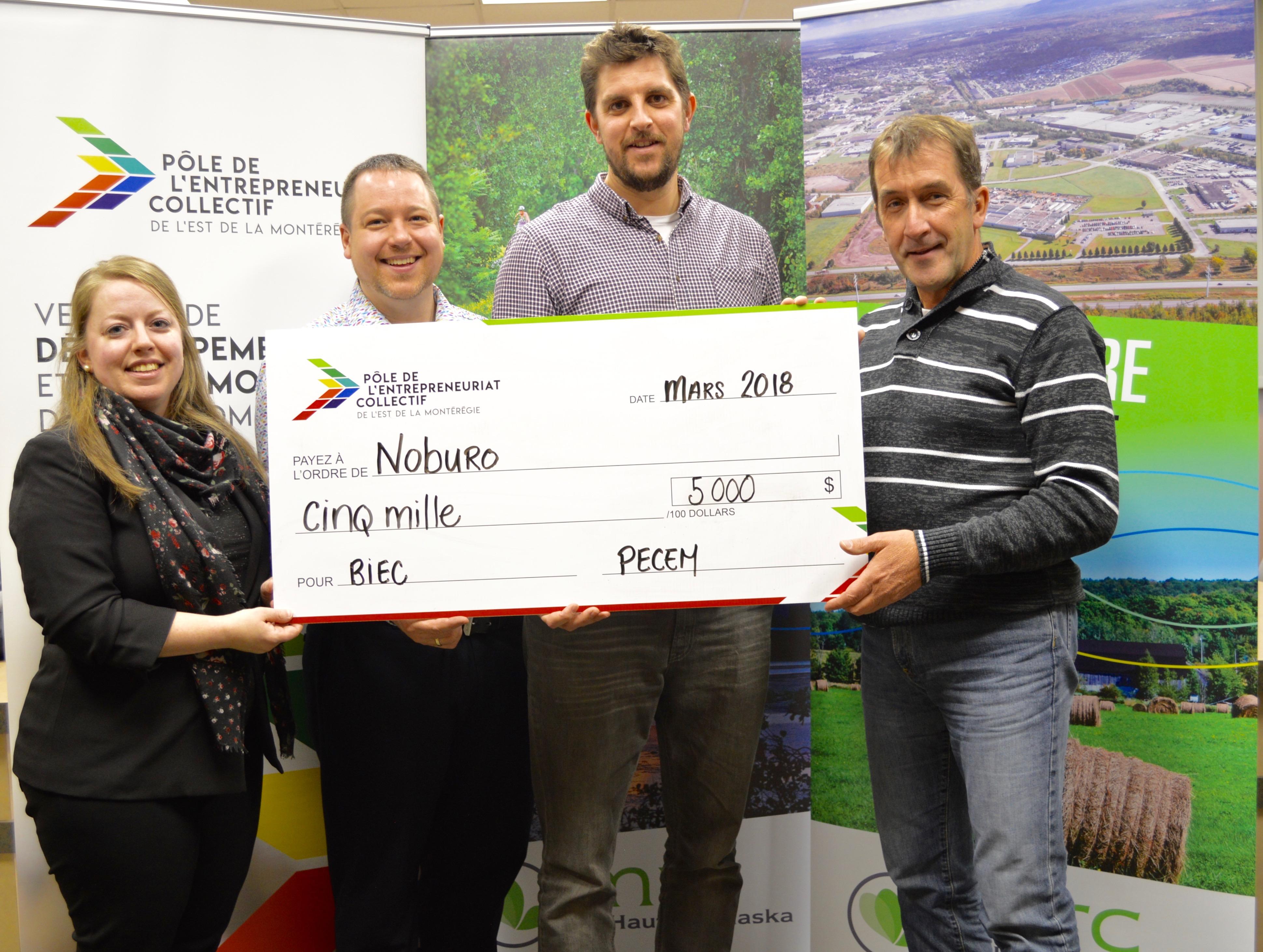 Noburo est lauréat du programme de Bourses d'initiatives en entrepreneuriat collectif