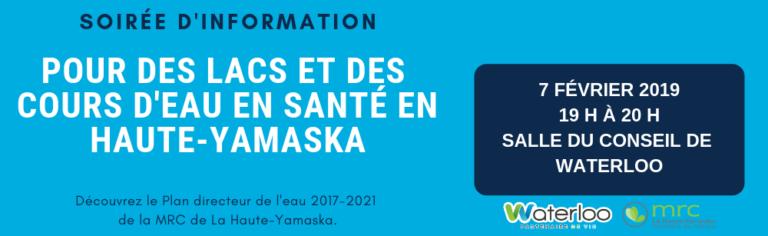 La MRC de La Haute-Yamaska présente son Plan directeur de l'eau à Waterloo