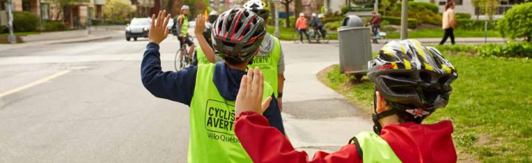Roulons en sécurité avec les jeunes de 5e et 6e année de la Haute-Yamaska grâce au programme Cycliste averti!